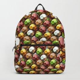 Metallic Beads Pattern Backpack