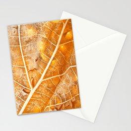 Burning Bokeh Leaf Stationery Cards