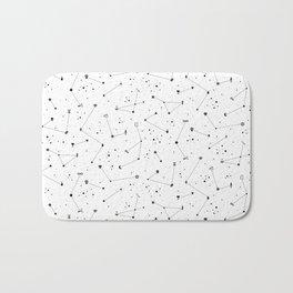 Constellations (White) Bath Mat