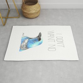 I Don't Want No Scrubs (Florida Scrub Jay) Rug