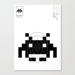 Retro Video Game Shooting Target - Alien Invader Canvas Print