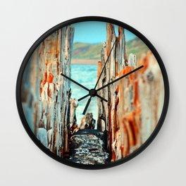 The Gap in the Pillars Wall Clock