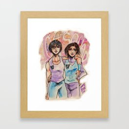 SNK Watercolor Framed Art Print