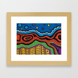 an abstract night Framed Art Print