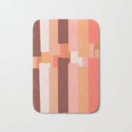 Line In Coral #society6 #abstractart Bath Mat