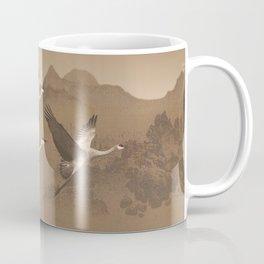 Cranes Flying Over Mongolia Coffee Mug