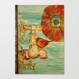 Garden Wren Canvas Print