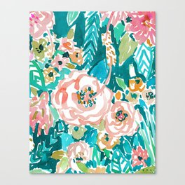 SUMMER IN MAUI Hibiscus Floral Canvas Print