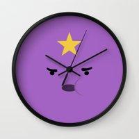 lumpy space princess Wall Clocks featuring Lumpy Space Princess by dudsbessa