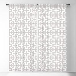 Minimal Nordic Crosses - Scandinavian Warm Grey Pattern Blackout Curtain