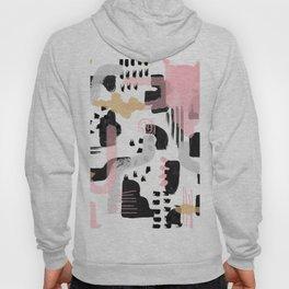 Mosaic Abstract Pink, Black Hoody