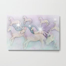 Unicorn Dreams Metal Print