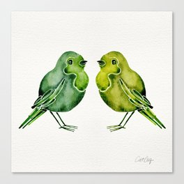 Parakeets Canvas Print
