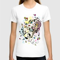 headphones T-shirts featuring Headphones by AURA-HYSTERICA