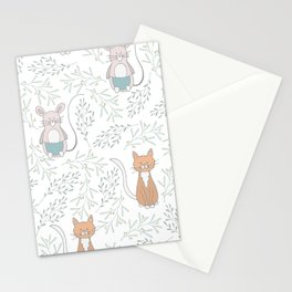 Cats and Rats Stationery Cards