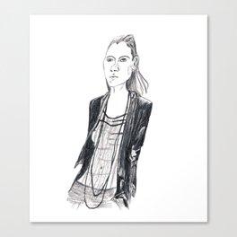 Fashion waif Canvas Print