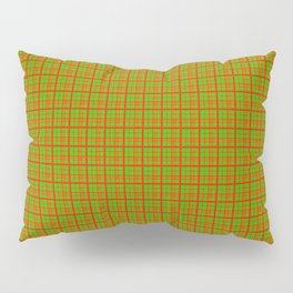 Red Lime Green Check Pillow Sham