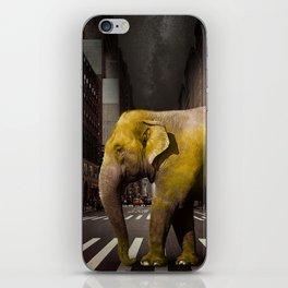 Elephant in New York iPhone Skin