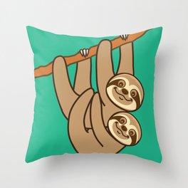Cute Sloths!! Throw Pillow