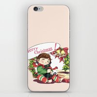 hiccup iPhone & iPod Skins featuring Merry Christmas from Hiccup and Toothless by Clgtart