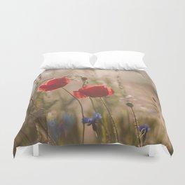 Poppy in sunrise my world Duvet Cover