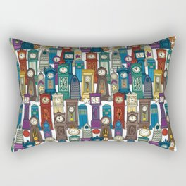 time and space white Rectangular Pillow