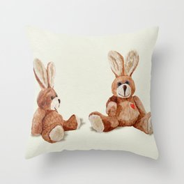 Cuddly Care Rabbit II Throw Pillow