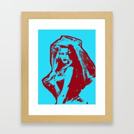 Brigitte Bardot - Red Blue Framed Art Print