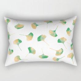 Ginkgo biloba leaves white Rectangular Pillow