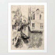 Ponti Manzolo, Venice Art Print