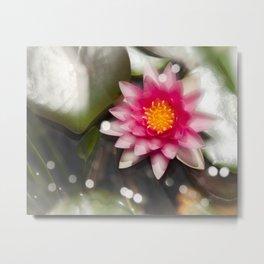 Magic Water Lily Metal Print