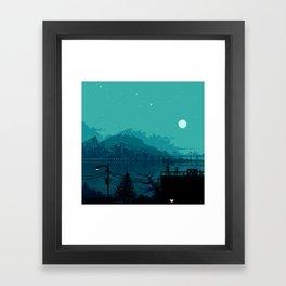 Dark Harbor Framed Art Print
