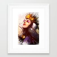 evil queen Framed Art Prints featuring Evil Queen by Vincent Vernacatola