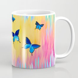 Butterflies and Abstract Colours Coffee Mug