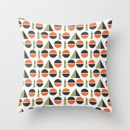 Modern Century Geometric Dessert Cactus 2 Throw Pillow