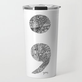 Patterned Semicolon #2 Travel Mug