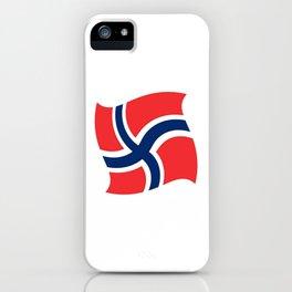 flag of norway 14 – Chalk version  snow,scandinavia,scandinavian,norwegian,oslo iPhone Case