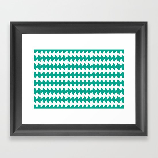 jaggered and staggered in emerald Framed Art Print
