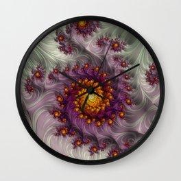 Saffron Frosting - Fractal Art Wall Clock