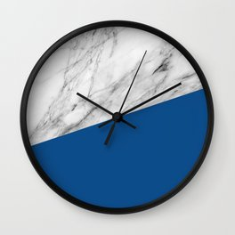 Marble and Lapis Blue Color Wall Clock