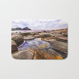 The Giant's Causeway,Ireland.(Painting) Bath Mat