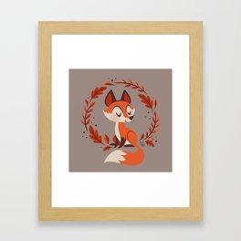 Cute Foxes Framed Art Print