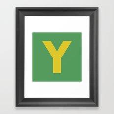 Y is for... Framed Art Print