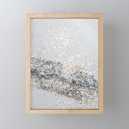 Silver Gray Glitter #2 #shiny #decor #art #society6 Framed Mini Art Print