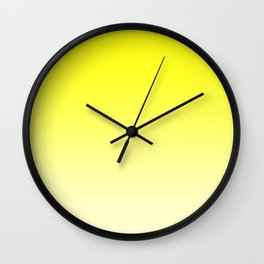 Yellow to Pastel Yellow Horizontal Linear Gradient Wall Clock