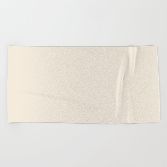 Rose Petal Cream Beach Towel