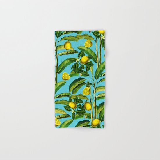 Lemon and Leaf II Hand & Bath Towel