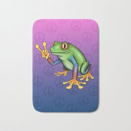 Peace Frog Bath Mat