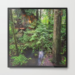 The Nest, Treehouse Point, WA Metal Print