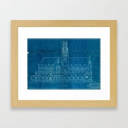 Church Elevation Blueprint Framed Art Print